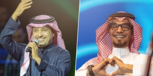 """رابح صقر وراشد الماجد يجتمعان في أغنية """"درع البلد"""""""